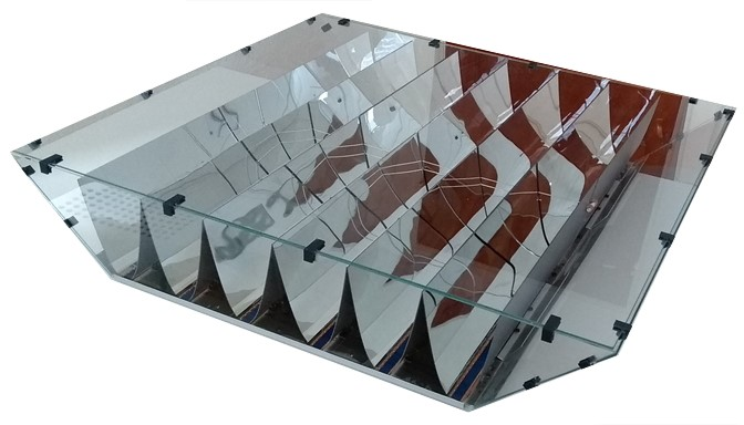 Solar PV panel with encapsulated tracking mirrors unveiled at Intersolar